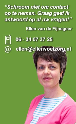 Ellen Voetzorg Plus telefoonnummer 06 - 34 07 37 25 email ellen@ellenvoetzorg.nl